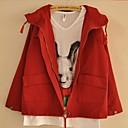 dámské s kapucí dlouhý rukáv ležérní volné nepromokavé pláště