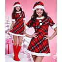 kostkovaný dospělého Vánoční žena kostým one size