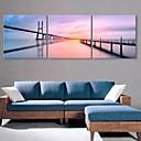 e-HOME® plátně umění na řeku a most dekorace malířské sadu 3