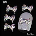 10pcs šarene vještački dijamant leptir-mašna DIY aluminijski pribor za nail art ukras