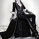 セット ロリータパンク ロリータ コスプレ ロリータドレス ブラック ゼブラプリント 3/4スリーブ ロリータ コート / ベスト / パンツ のために 女性 レザー / 制服クロス