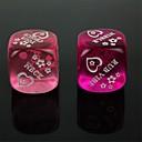 spoof zábavné kostky - fialová + růžová (2 ks)