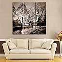 e-HOME® plátně umělecké řek a stromy dekorativní malba set of 3