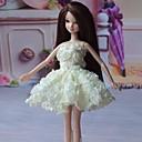 パーティー/イブニング ドレス ために バービー人形 ホワイト ドレス のために 女の子の 人形玩具