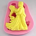 tanec fondán dort Silikonová forma dort dekorace nástroje, l7cm * w8.7cm * h1.6cm