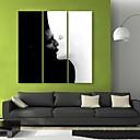 e-HOME® plátně umění polibek dekorativní malba set of 3