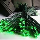 17メートルソーラークリスマスライトの文字列ランプlndoor屋外点滅のライトストリップを100が主導 - グリーン
