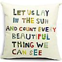 šaren doslovni print pamuk / lan dekorativne jastučnicu
