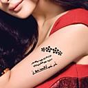 5 ks černá arabština zlomené srdce vodotěsný dočasné tetování nálepka
