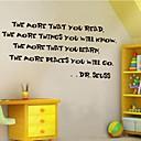 引用符壁画PVCウォールステッカーを言って壁のステッカー壁のステッカー、家の装飾dr.seussワード