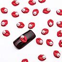 10pcs bijeli nail art biser nakit svjetlucavim metalik crvena Jewellry za DIY noktiju dizajn
