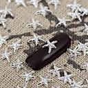 50pcs srebrna metalik sjajna zvijezda nail art legura nakit noktiju savjete vernish manikura ukrase