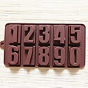 数字形状ケーキ型アイスゼリーチョコレートモールド、シリコーン22×11.2×2cmの(8.7×4.4×0.8インチ)