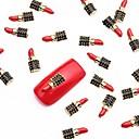 10pcs crvene nail art legure slice metalik crni lak za dizajn nakita manikura ponedjeljak tema za dnevne noktiju