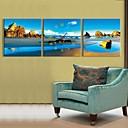 E-home® sat plaža stijene u platnu 3pcs