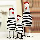 3ノベルティイースター塗装鶏の家族、木のセット
