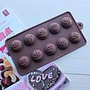 10 rupa izrazi oblika glazura Jelly čokolade kalupe, silikonska 15 × 14,5 × 1,5 cm (6,0 × 5,8 × 0,6 cm)