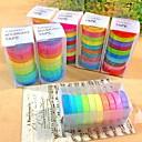 装飾的な10色に人気のレインボー和紙粘着性の紙マスキング接着剤装飾テープスクラップブッキングDIY 30個