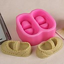 pár bot ve tvaru fondán dort čokoláda silikonová forma