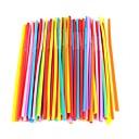 domaćinstvo od plastike u boji slamke (100 komada)