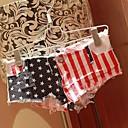 dámské letní módní americká vlajka tisk roztřepený denim krátké kalhoty