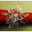 crystal květ prsten ubrousku, akryl, 4,5 cm, sada 12