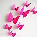 samolepky na zeď na stěnu, 12ks / lot 3D PVC magnetické růže motýl nálepka domů nálepky DIY samolepky na zeď.