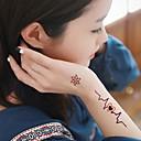 1pc vodootporan šarena Arapska ljubičaste fluorescentne žute brojevima serija leptir uzorak tattoo naljepnice
