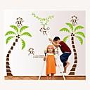 zidne naljepnice zidne naljepnice, stil kokos majmuna na stablu PVC zidne naljepnice