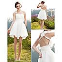 Lanting Bride® A-Linie / Princess Drobná / Nadměrné velikosti Svatební šaty - Elegantní & moderní / Šaty na hostinu PrůsvitnéKrátký /