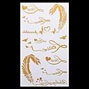 Tetovaže naljepnice - Others - za Žene/Muškarci/Odrasla osoba/Boy - Uzorak - 20.5*10cm - Uzorak/Donji dio leđa/Waterproof - 1 kom. - (  Zlatna - Papir
