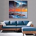 E-home® plaža i nebo sat platnu 3pcs
