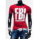 Ležérní kulatý tvar - Krátké rukávy - MEN - T-Shirts ( Směs bavlny )