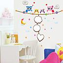 zidne naljepnice zidne naljepnice, stil crtani sova PVC zidne naljepnice