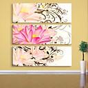 E-home® pruži platnu umjetnosti cvijet dekorativna slikanje set od 3