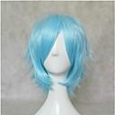 Novi moderan plavo cosplay vlasulja sintetičke kose perika kratke ravne animirani perika strana perika