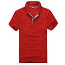 ピアス韓国のシンプルなすべてをマッチさせた半袖ポロシャツシャツTシャツをチェック