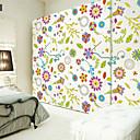 samolepky na zeď na stěnu, květinový vzor PVC samolepky na zeď