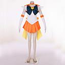 に触発さ 美少女戦士セーラームーン Sailor Uranus ビデオ ゲーム コスプレ衣装 コスプレスーツ パッチワーク オレンジ ドレス / ヘッドピース / ヘアバンド / 手袋 / ボウ