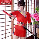Žene Ultra seksi / Seksi spavaćica / kineska haljina Noćno rublje Print-Poliester Crvena