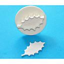 4-cの大ヒイラギの葉のガムペースト/フォンダンプランジャーカッター、古典的なケーキデコレーション用品の1PCS