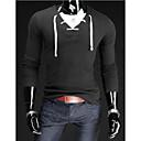 Ležérní Véčkový výstřih - Dlouhé rukávy - MEN - T-Shirts ( Směs bavlny )