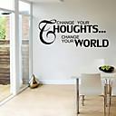 zid naljepnice zid naljepnice stil promijeniti svoje houghts engleskih riječi&citati PVC zidne naljepnice