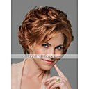 milost styl vysoce kvalitní bez krytky krátké vlnité mono top lidský vlas paruky osm barev na výběr