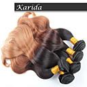 3 kom / dosta veliko Brazilski kose ombre boja kose 1b / 27 # tijelo val, neprerađeni djevica Brazilski kosu