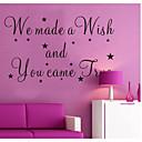 私たちは願いを作り、あなたは真の壁のステッカーは、装飾的な取り外し可能なビニールの壁のステッカーをzooyoo8137来ました