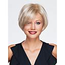 高品質なキャップレスショート波状モノトップ人間の髪の毛は、選べる12色をかつら