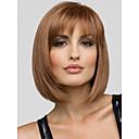 lijep mladenački bob frizura kratka ravna mono vrh capless ljudske kose vlasulja 5 boja za izabrati