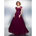 ts couture® formalno večernja haljina plus size / kašičica šifon poda petite-line s različiti predmeti / izvlačenja / gumba