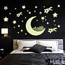 svjetlosna zidne naljepnice na zid naljepnice stil mjesec kuća zvijezda pvc zidne naljepnice